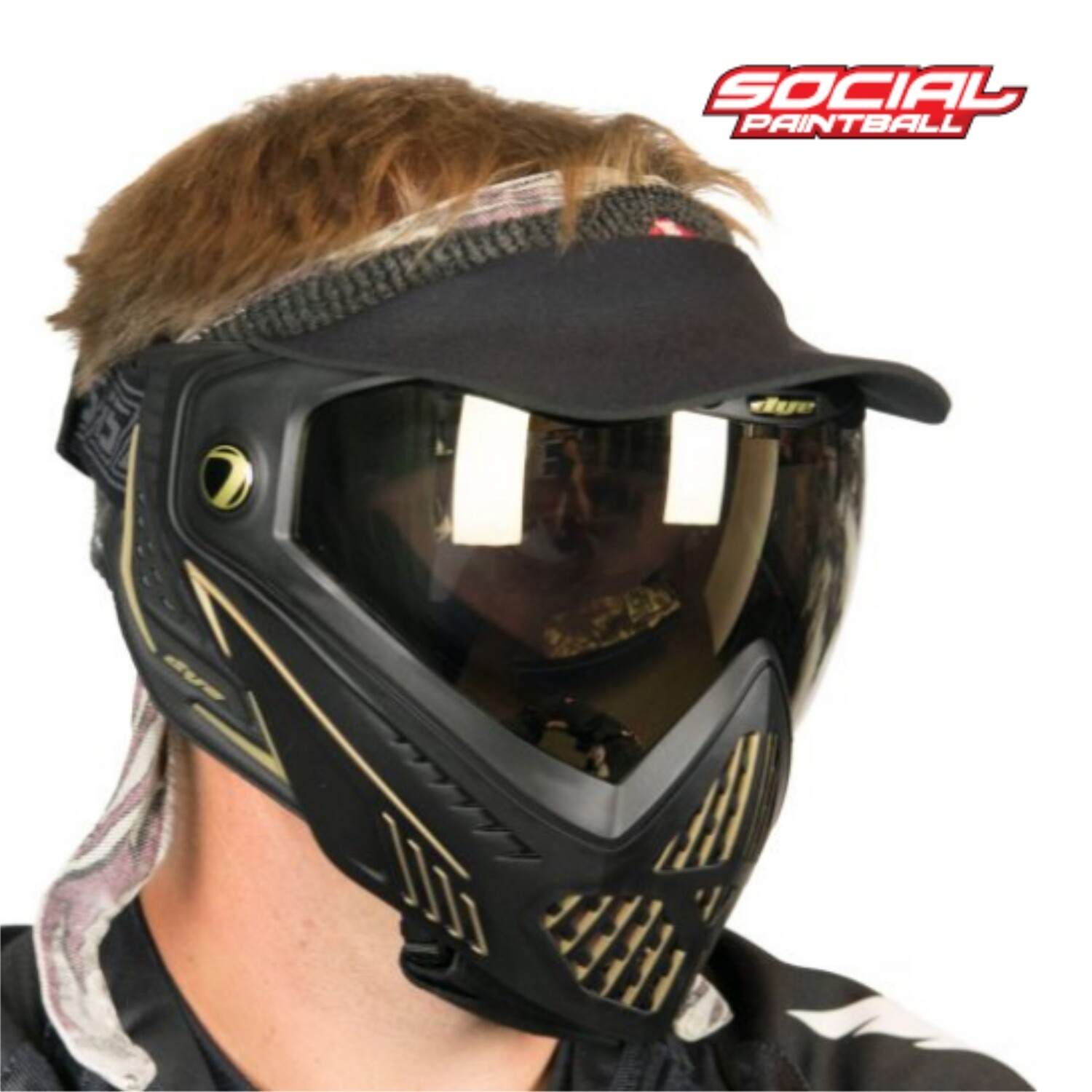 Social Paintball Vintage Duckbill Universal Paintball Visor - Black