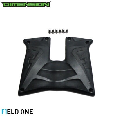 Field One Rubber Grip Panels - Black/Black
