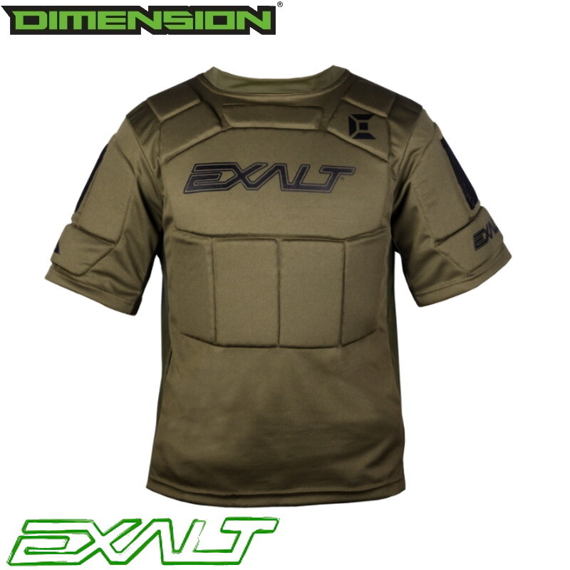 Exalt Alpha Chest Protector - Olive - L/XL