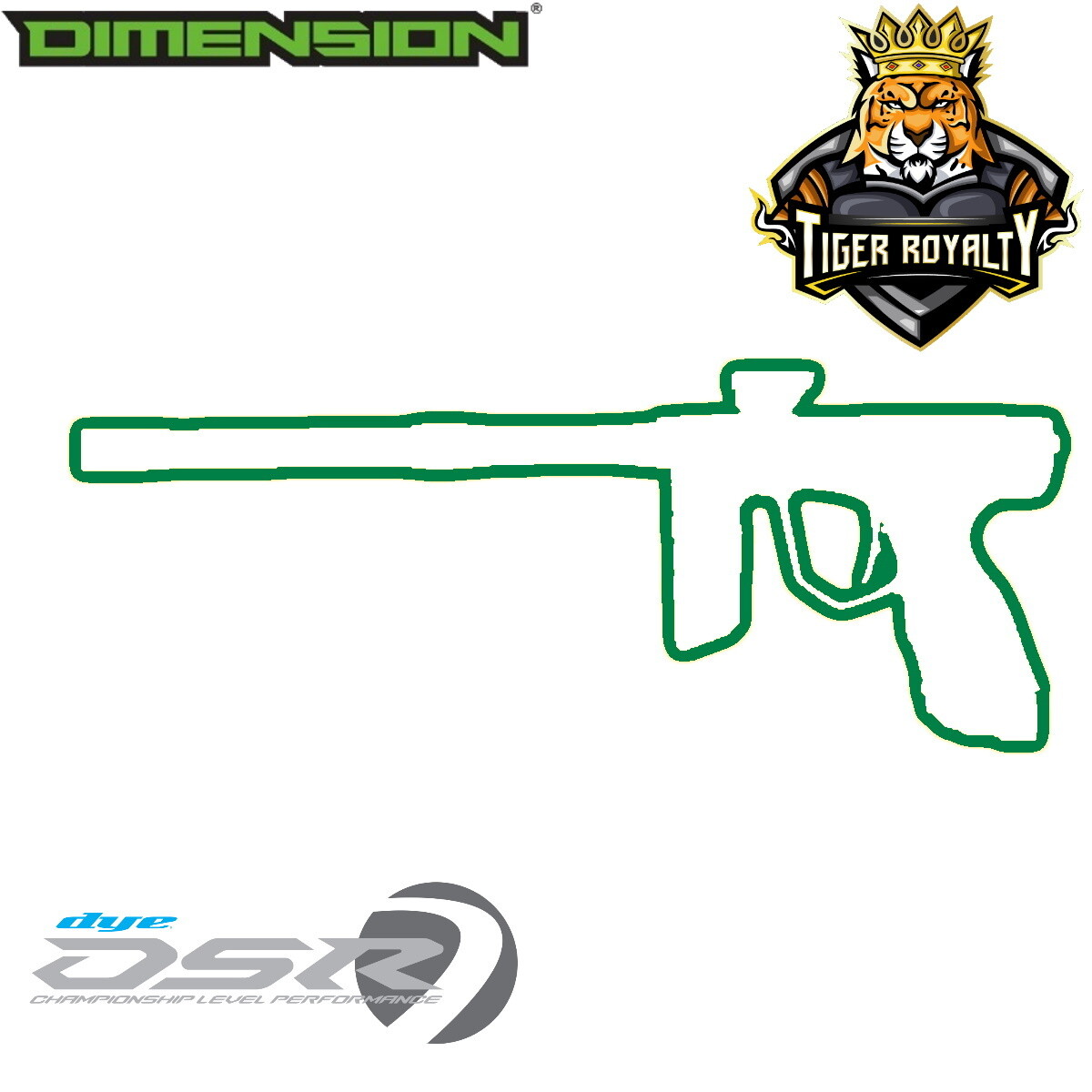 Dye DSR - Dimension Limited Edition 1 of 1 / Tiger Royalty - Spearmint