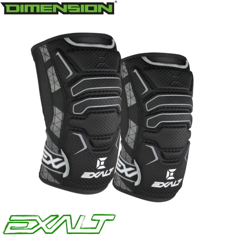 Exalt FreeFlex Knee Pads - Black - Large