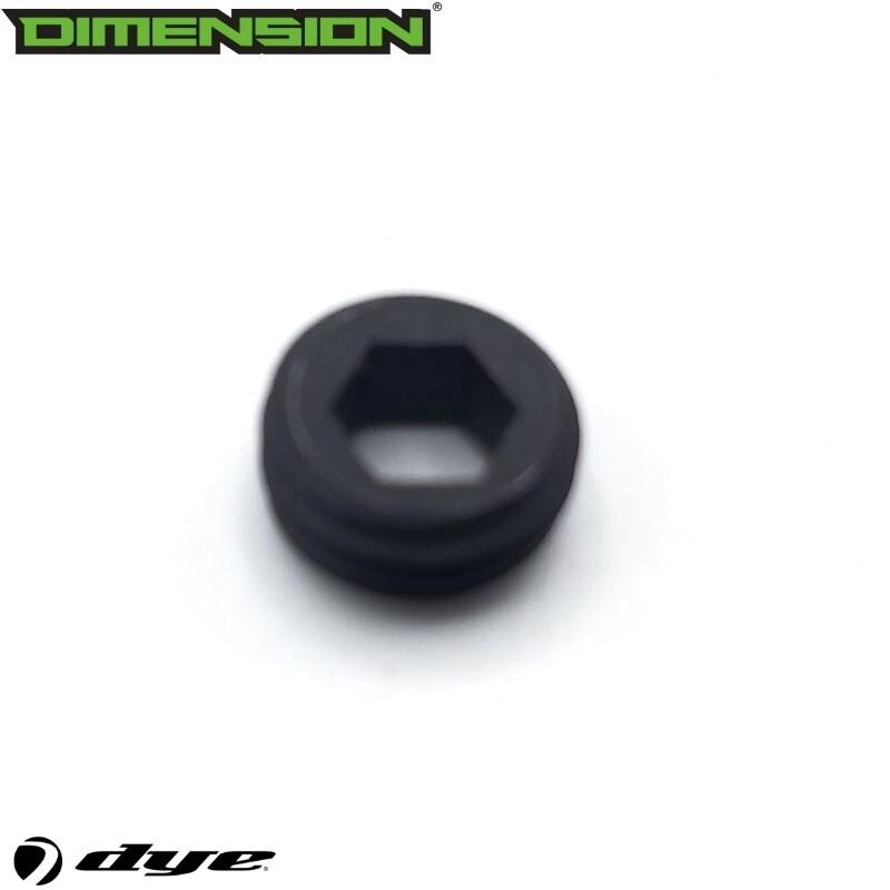 Dye Hex Hollow Screw - Black - M3s, M3+ - #R10200041