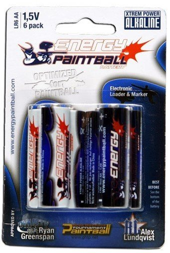Energy Paintball - AA Batteries (6 Pack)