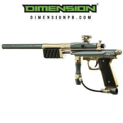 Azodin KP3 Special Edition Kaos Pump Paintball Gun - Titanium/Gold