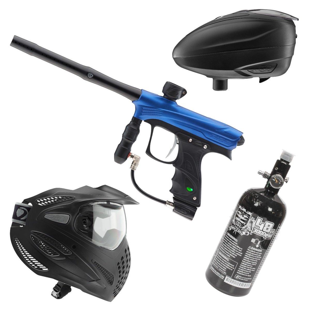 Marker Package - Dye Rize Marker - Blue Dust / Dye LT-R Black / Dye Se Goggle Single / Valken 48cu 3000 psi Air Tank