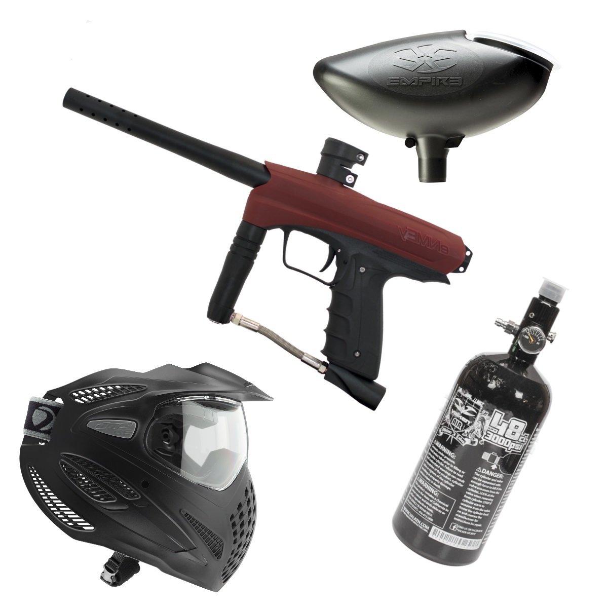 Marker Package - Gog Enmey Marker - Red / Empire 200 rd Loader / Dye Se Goggle Single / Valken 48cu 3000 psi Air Tank
