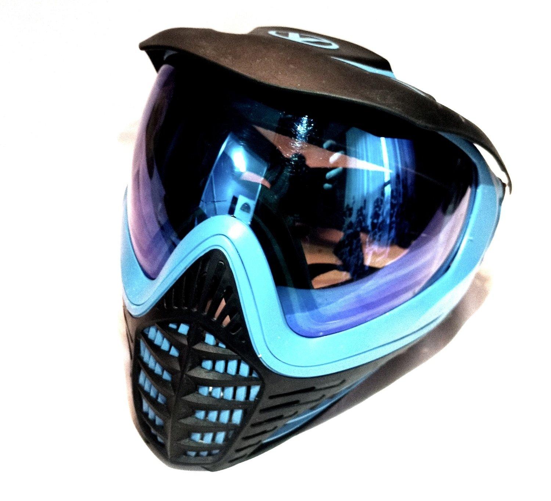 Used Virtue Vio Contour Paintball Goggles - Cyan