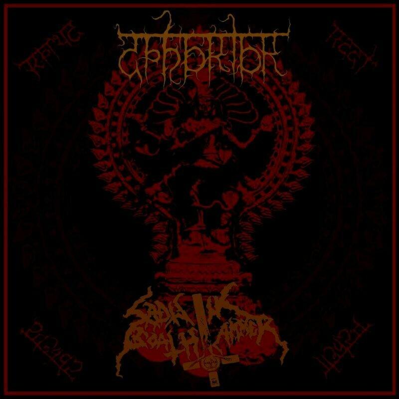 ABHORIOR / SADISTIK GOATHAMMER – Hierophanic Sigils ov the Poison and Death SPLIT CD