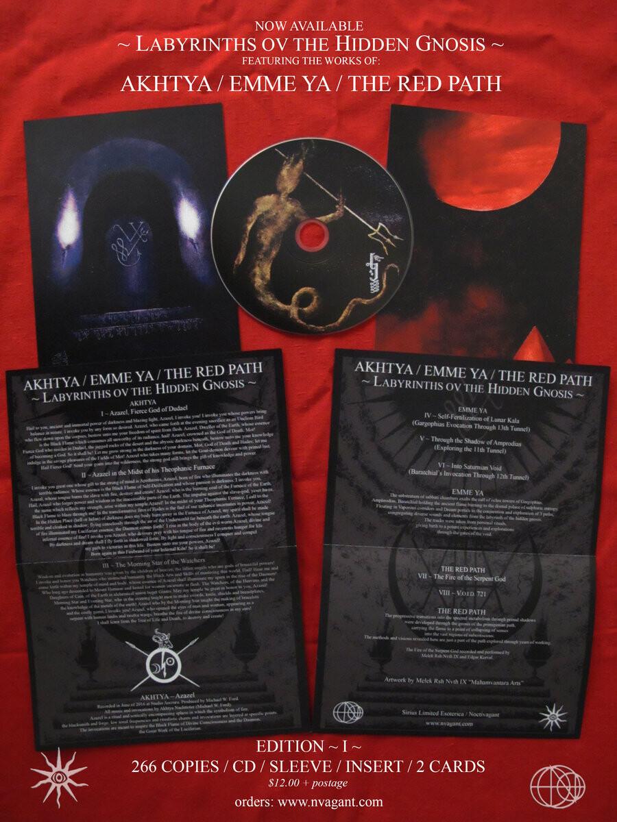"""Akhtya, Emme Ya & The Red Path """"Labyrinths ov the Hidden Gnosis"""""""