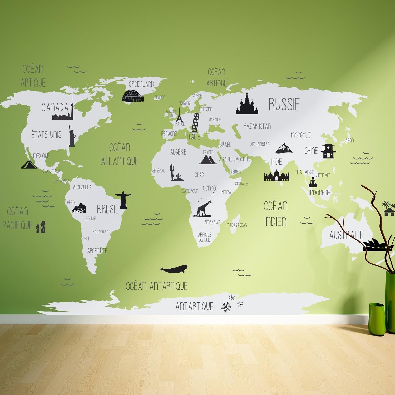 Carte du monde éducative