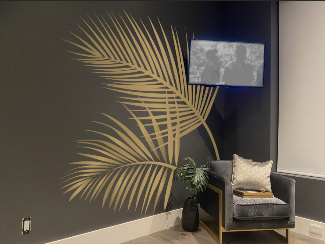 Custom palm leaves - Wall decals