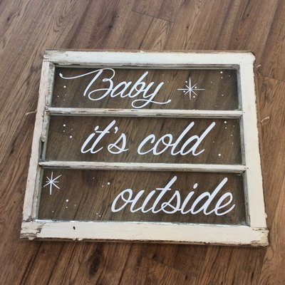Baby it's cold outside - decal only