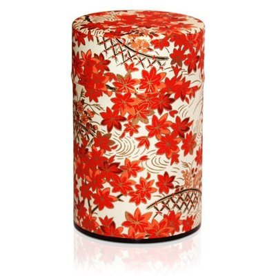 ​Japanese Maple Tea Canister (Cream - 150g)