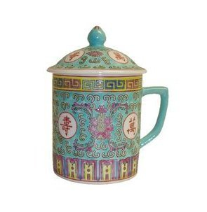 Chinese Rose Familia Mug (Green)