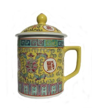 Chinese Rose Familia Mug (Yellow)
