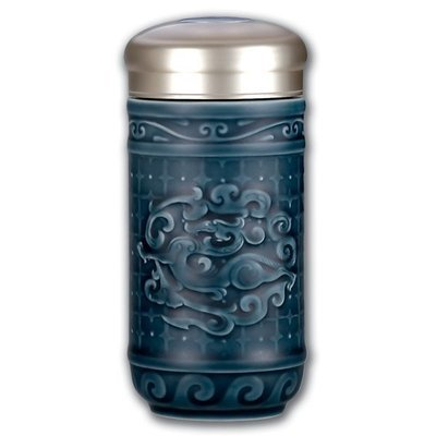Dragon Blue Ceramic Travel Mug 300ml