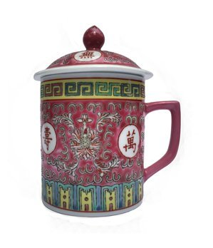 Chinese Rose Familia Mug (Red)