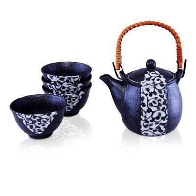 Kikuno Teapot + 4 Cup Set 480ml