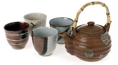 Five Piece Tea Set (Brown)