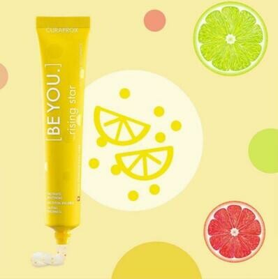 Curaprox BE YOU COMBIPACK RISING STAR TOOTHPASTE 90ml ( Juicy grapefruit and revitalising bergamot ) with 1PS toothbrush 5460
