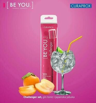 Curaprox BE YOU COMBIPACK CHALLENGER TOOTHPASTE 90ml ( Gin Tonic / Kaki ) with toothbrush 5460