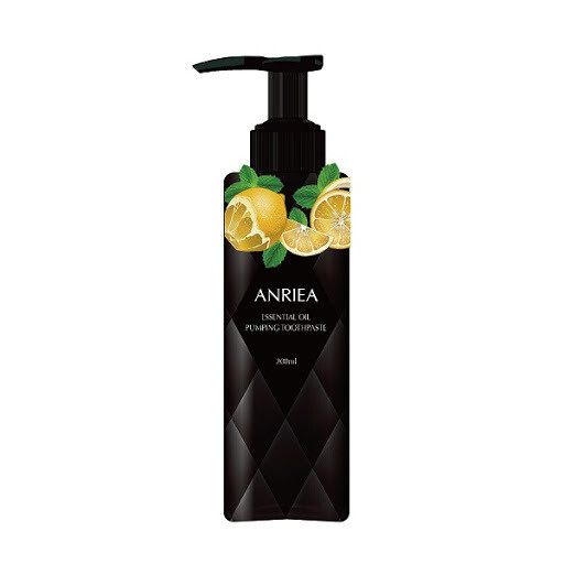 ANRIEA Whitening Toothpaste_Bamboo charcoal (lemon)