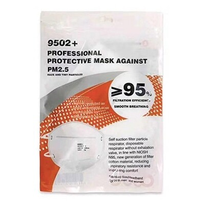 [10 pcs Pack] KN95 Respirator Mask FFP2 EN 149:2001 against PM2.5 in line with NIOSH N95