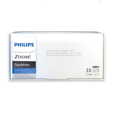 Philips Zoom DayWhite Touch-ups ACP 14% Teeth Whitening Kit w/ NuBox Tooth Shade Card Bundle