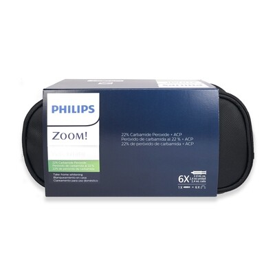 Philips zoom Take Home Whitening NiteWhite  22% carbamide peroxide 6 Syringes - 18 applications without Fluoride (Standard Kit)