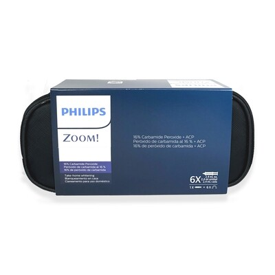 Philips zoom Take Home Whitening NiteWhite 10% 16% 22% carbamide peroxide 6 Syringes - 18 applications without Fluoride (Standard Kit)