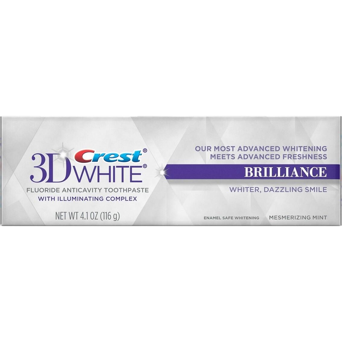 Crest 3D White Brilliance, Enamel Safe Teeth Whitening Toothpaste, Mesmerizing Mint Flavor 4.1 Oz