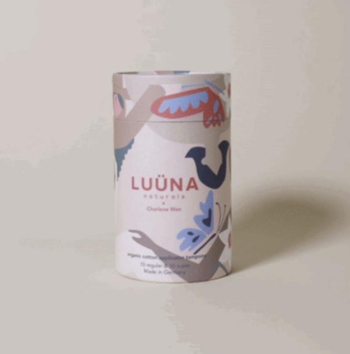 Luuna - New plastic-free period Organic Cotton tampons(10 regular,10 super)