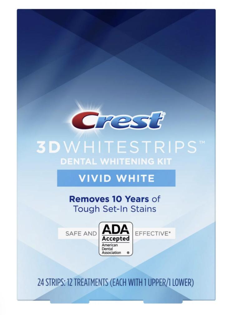 Crest - Crest 3D White Whitestrips Vivid White Teeth Whitening Kit