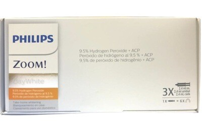 Philips Zoom DayWhite Touch-ups ACP 9.5% Teeth Whitening Kit w/ NuBox Tooth Shade Card Bundle