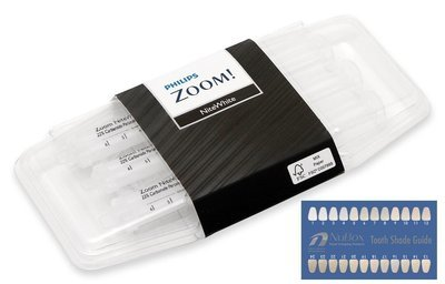 Philips Zoom NiteWhite Quick ACP 10% Teeth Whitening Kit w/ NuBox Tooth Shade Card Bundle