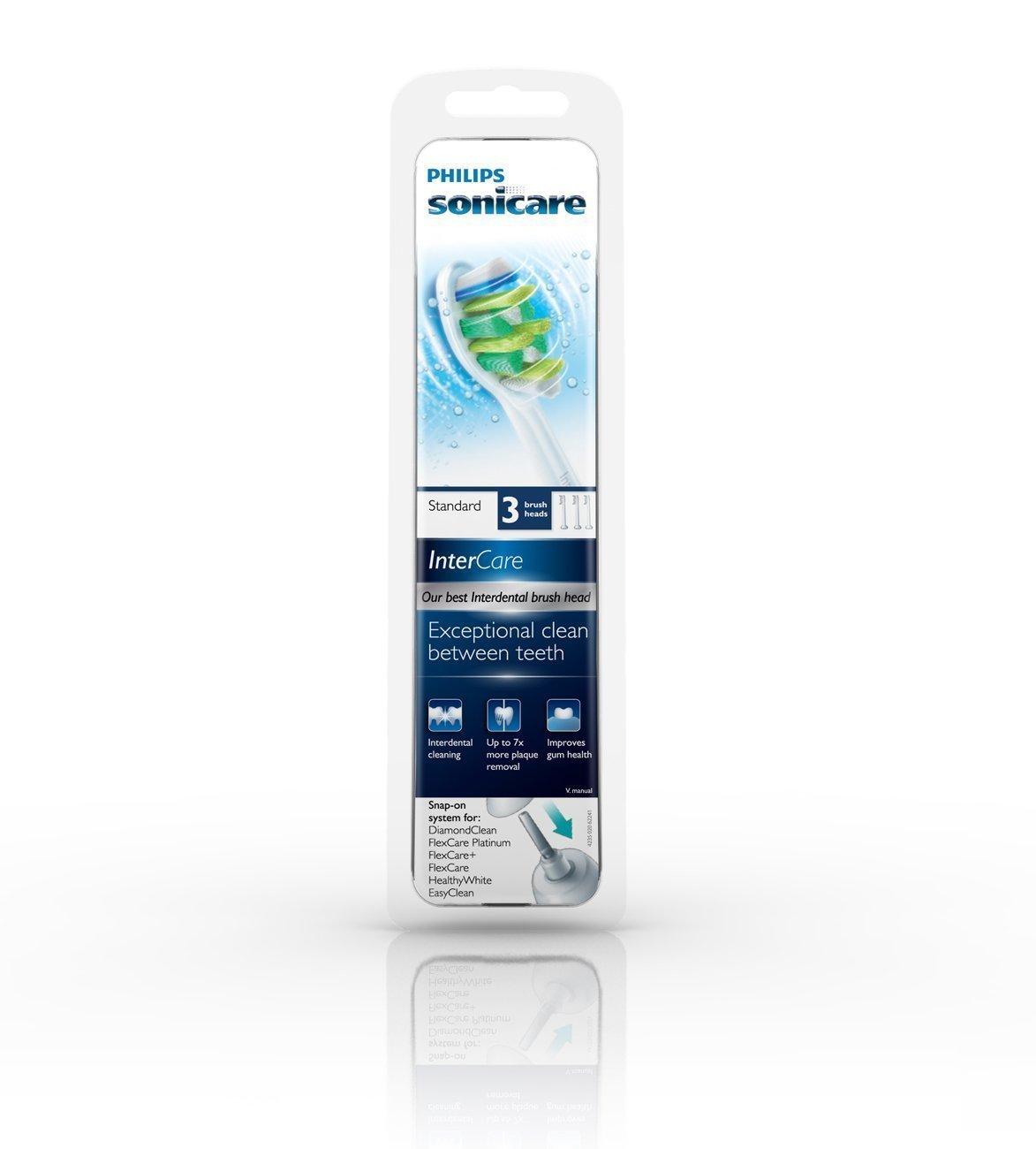 Philips Sonicare Flexcare Platinum Standard Brush head HX9003/64, 3-pk InterCare replacement toothbrush heads