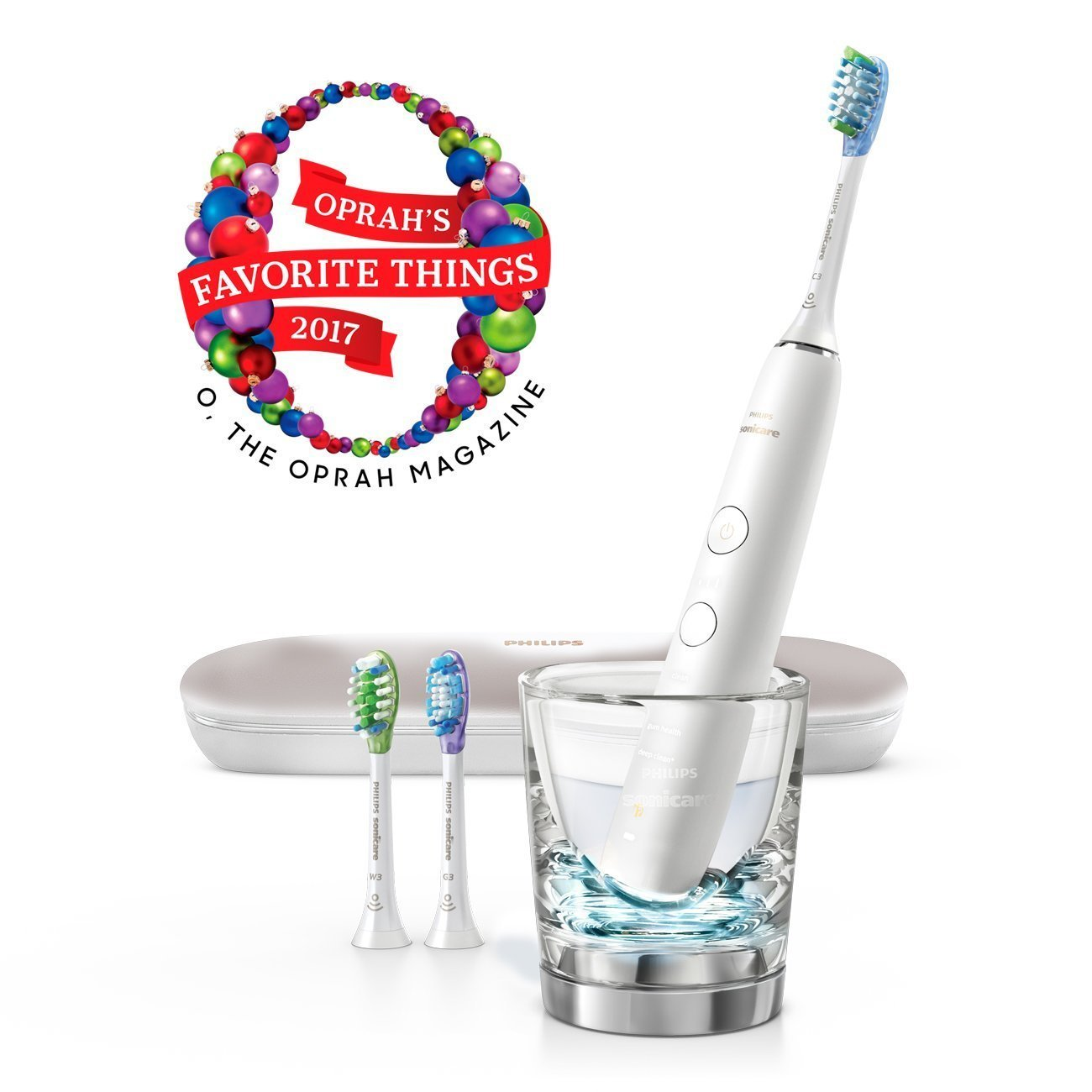 Philips Electric Rechargeable toothbrush for Complete Oral Care DiamondClean Smart White Patient Pack hx9984