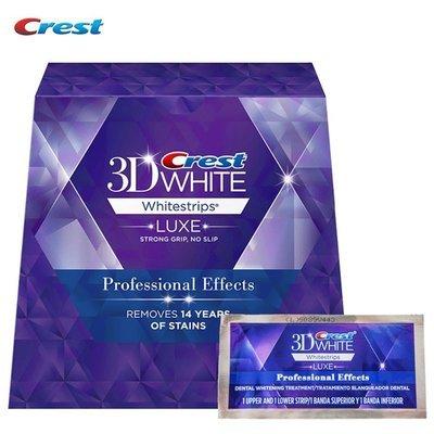 Crest 3D Effet Professionnel - Bandes Blanchissantes de dents - 20 sachets (40 bandes)