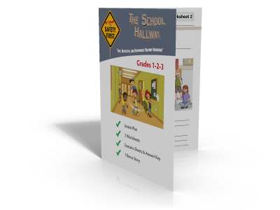 School Hallway Safety Lesson Plan and Worksheets - Grades 1-2-3 SAFE-002P1