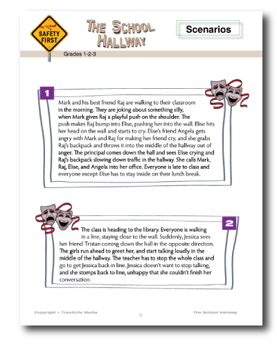School Hallway Safety Lesson Plan and Worksheets - Grades 1-2-3