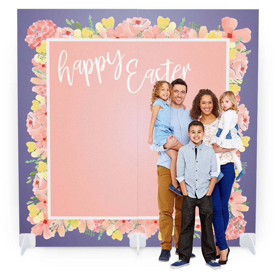 Easter Photo Booth with Props - Floral