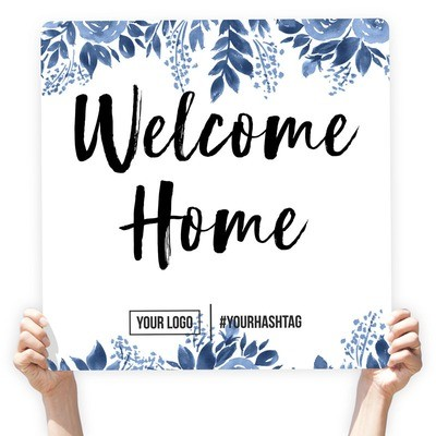 Watercolor Greeting Sign -