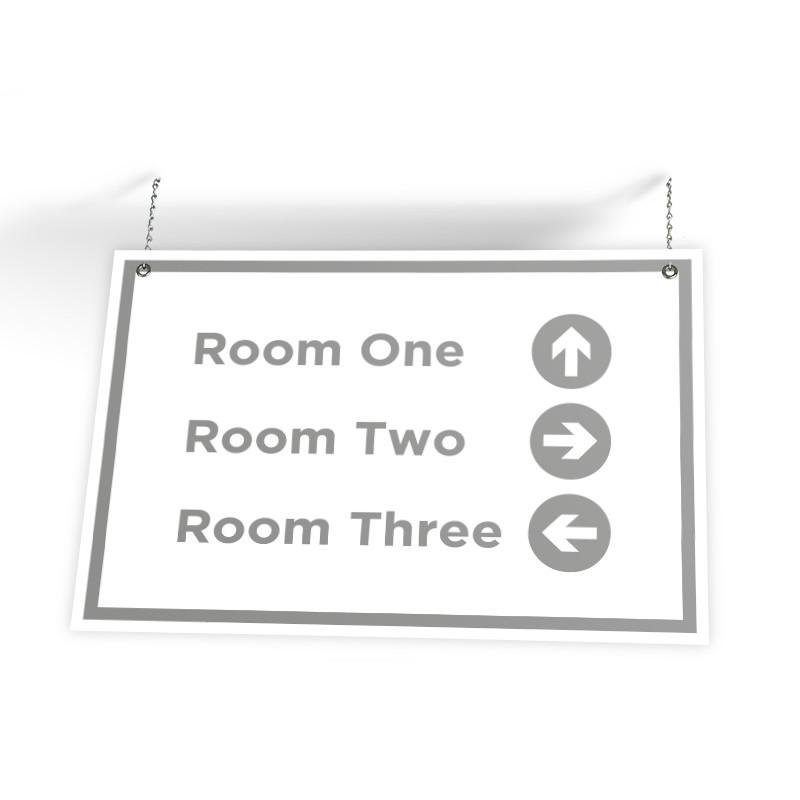 "Customizable Directional Sign (36"" X 24"")"