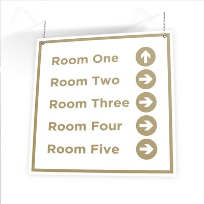 "Customizable Directional Sign (36"" X 36"")"