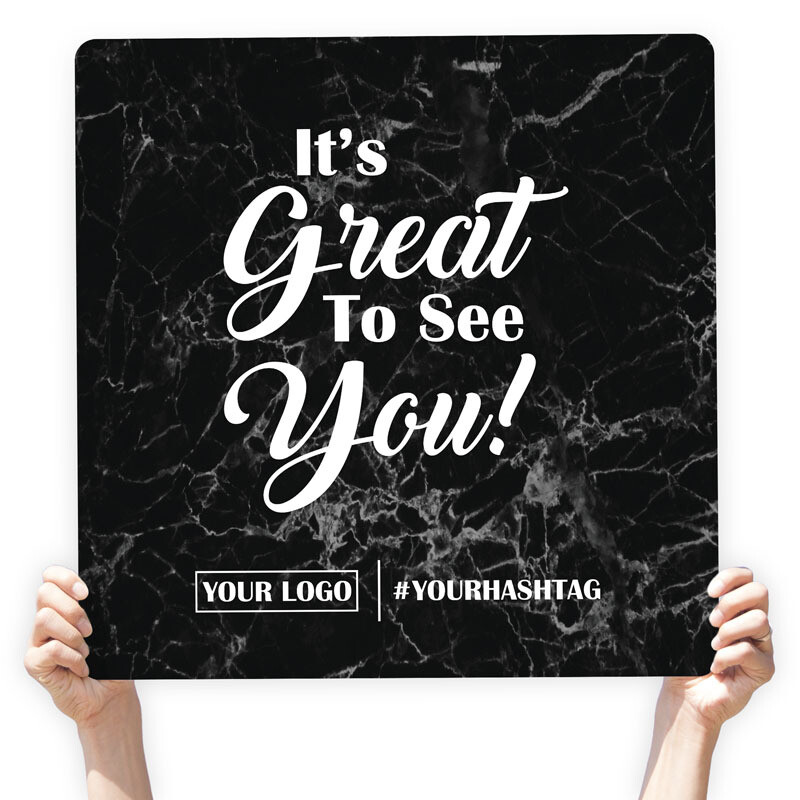 """Marble Greeting Sign - """"It's Great to See You!"""""""