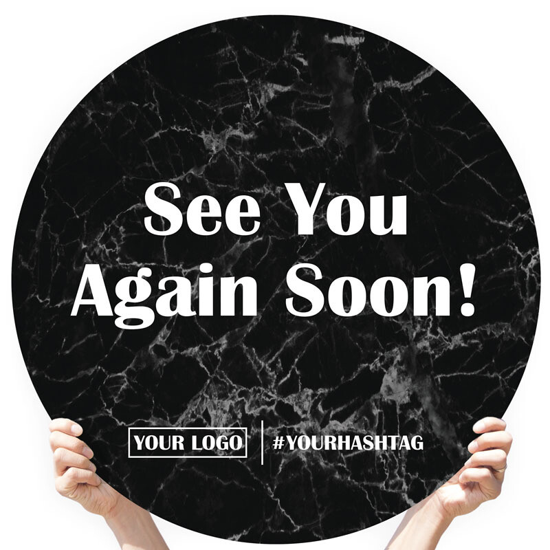 "Marble Greeting Sign - ""See You Again Soon!"""