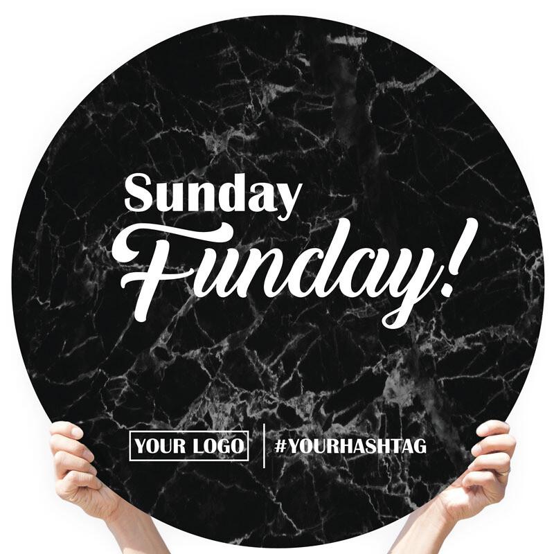 "Marble Greeting Sign - ""Sunday Funday!"""