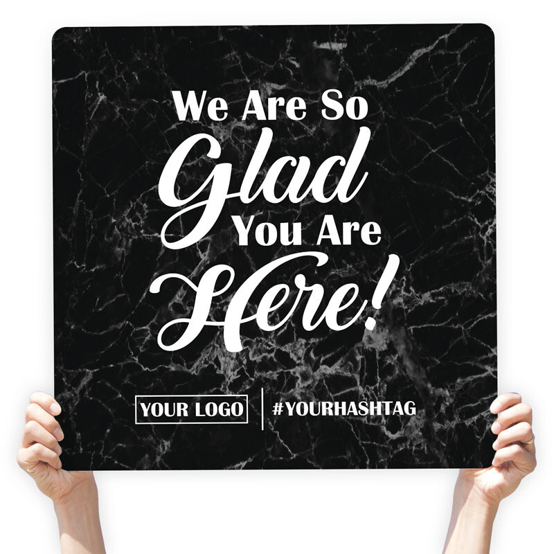 "Marble Greeting Sign - ""We Are so Glad You Are Here!"""