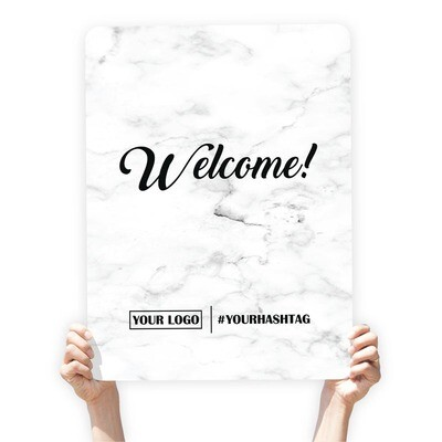 Marble Greeting Sign -