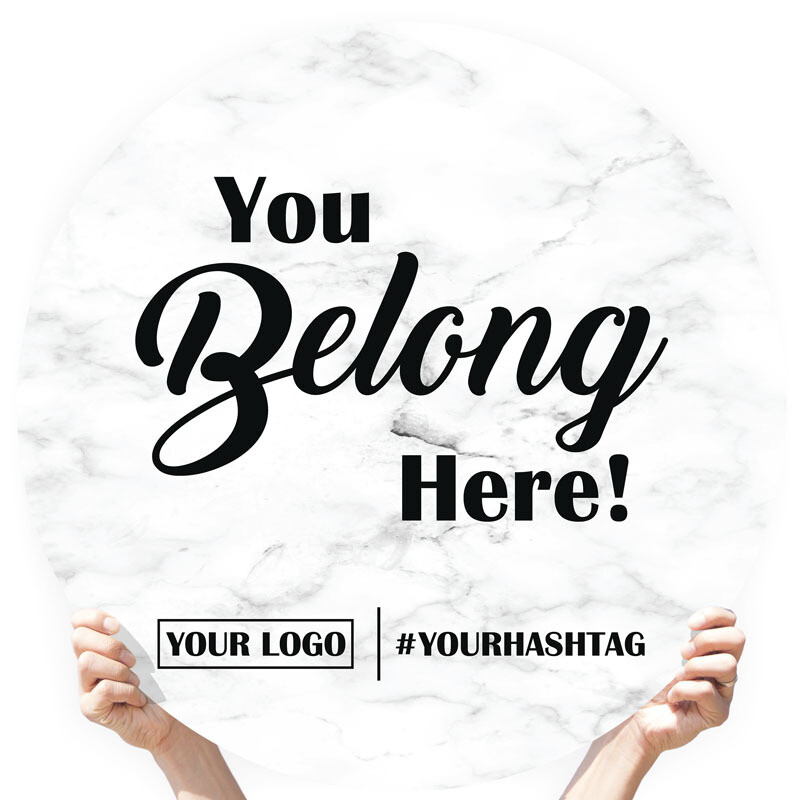 "Marble Greeting Sign - ""You Belong Here!"""